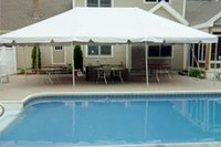 20' x 30' frame tent on patio