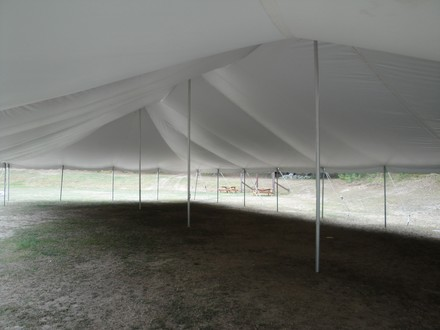 40 X 80 Standard Tent Interior View Paul Redeker