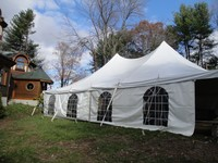 30' x 45' high peak tent with window walls