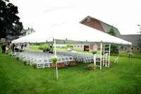 30' x 40' Frame tent with garden chair