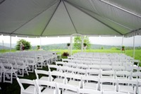 30' x 40 Frame tent interior view